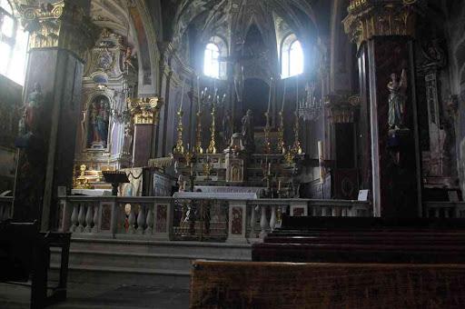 Saorge, l'intérieur de l'église Saint-Sauveur