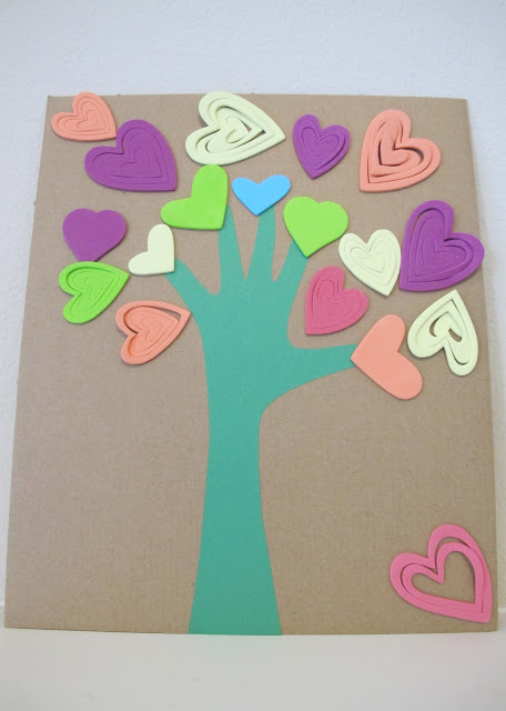 heart handprint tree