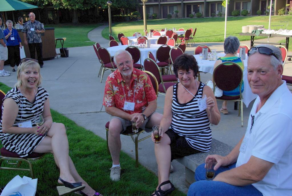 Carol Claphan, Bud and Carolyn Hartley Burdick, Dale Claphan