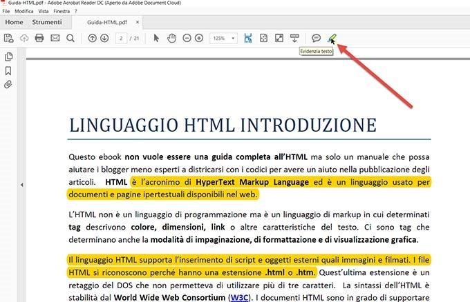 evidenziare-testo-pdf