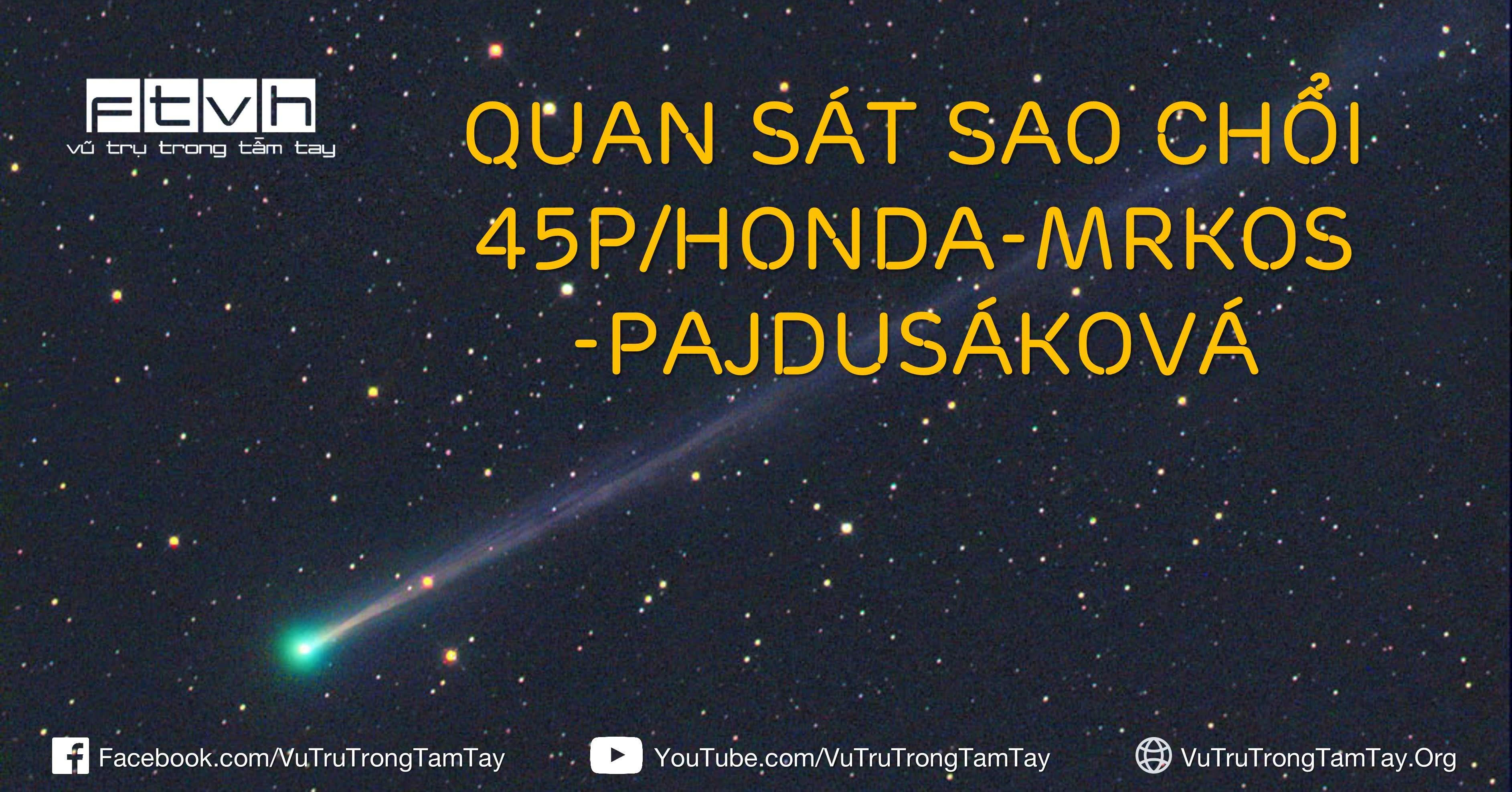 Sao chổi 45P/Honda-Mrkos-Pajdušáková chụp bởi Tim Puckett