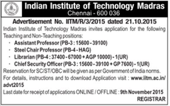 IIT Madras Advertisement