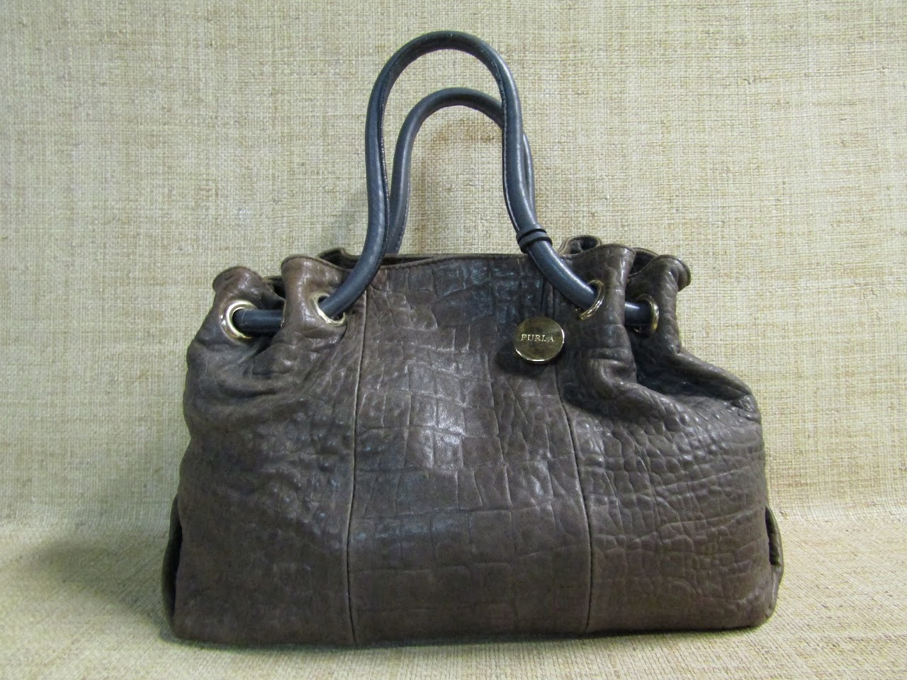 Furla Textured Bucket Bag