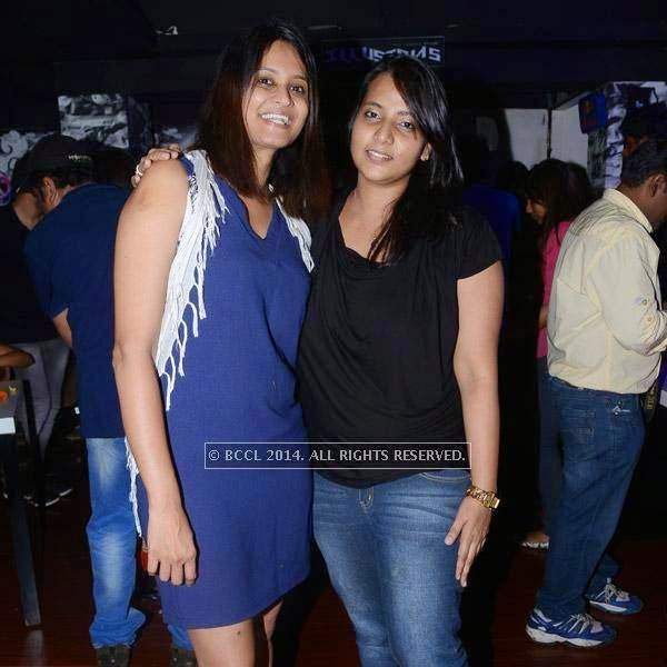 Jothi and Divya pose together during a get-together party at Pub Illusions.