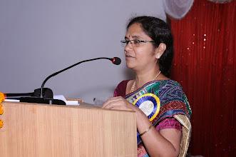 Photo: Chief Guest Dr. NAGA LAKSHMI addressing the Gatherig