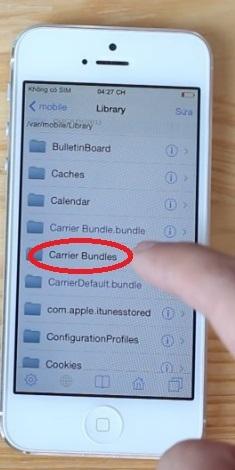 Hình 4 - Cách sửa không kiểm tra tài khoản *101# trên iPhone Lock