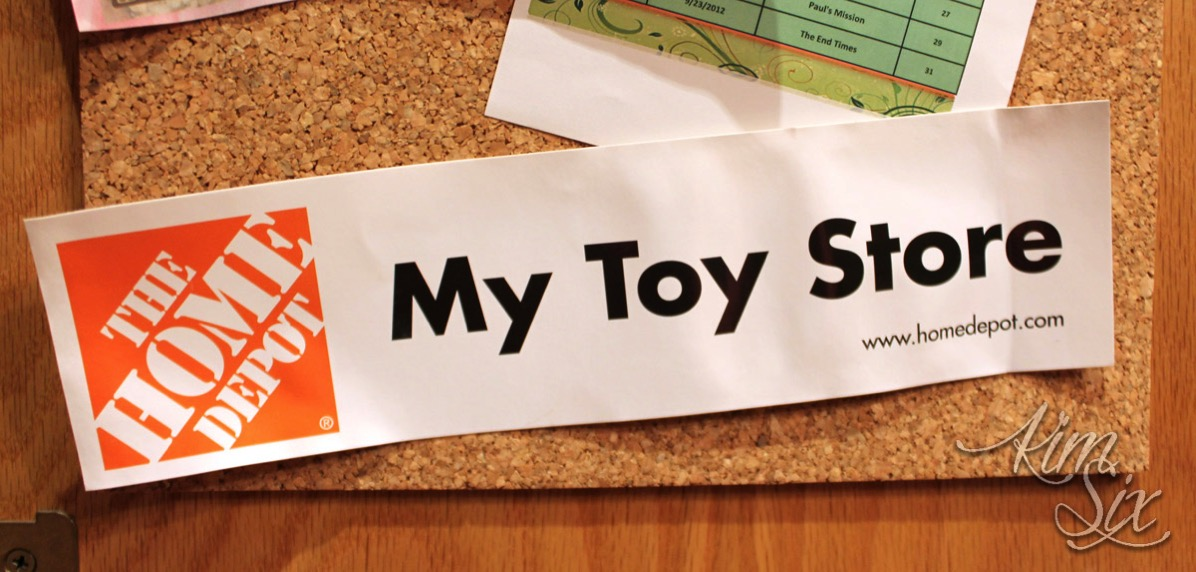 Home depot bumper sticker
