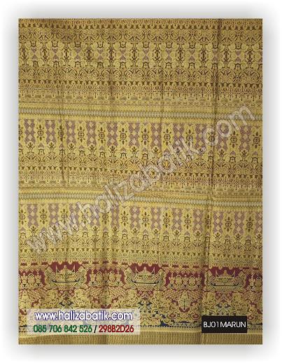 Gambar Model Batik, Batik Muslim, Batik Grosir, BJ01 MARUN