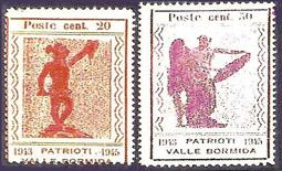 1945 - francobolli resistenza valle bormida