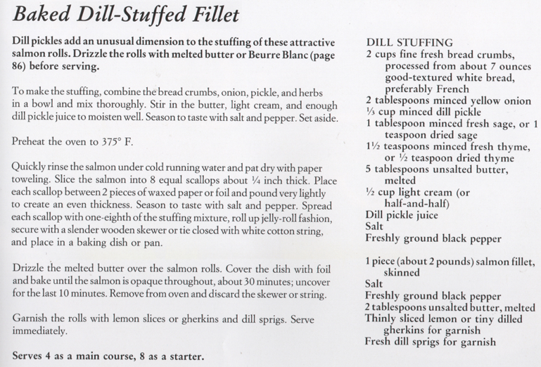 Baked Dill Stuffed Salmon Fillet Recipe