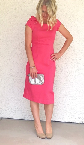 Thrifty Wife, Happy Life- Kate Middleton inspired pink dress