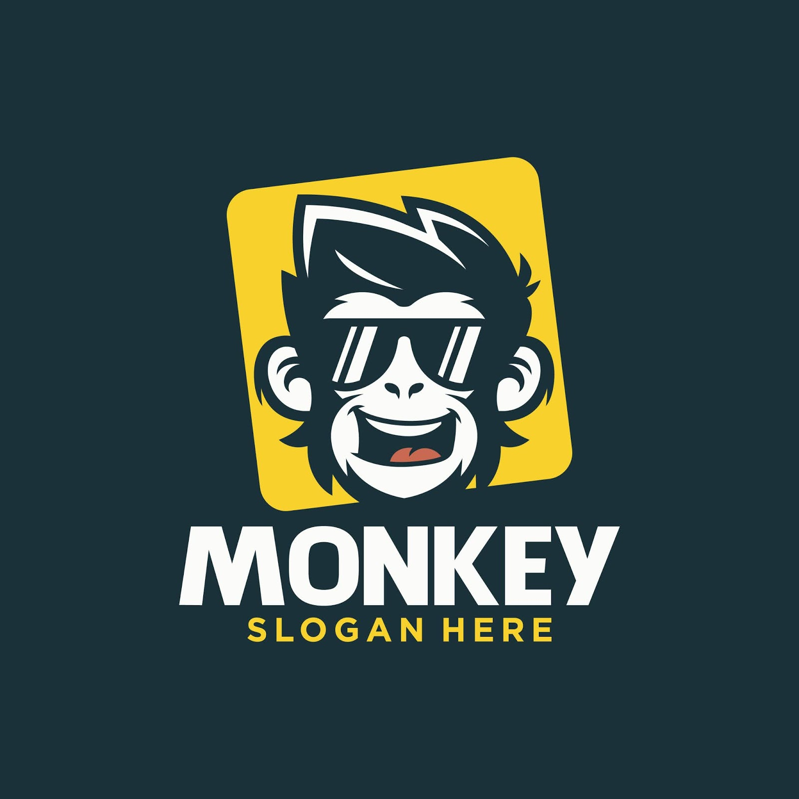 Cool Monkey Logo Design Vector Free Download Vector CDR, AI, EPS and PNG Formats