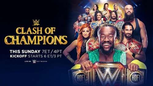 Poster Of WWE Clash Of Champions 15th September 2019 HDTV 480P 300MB
