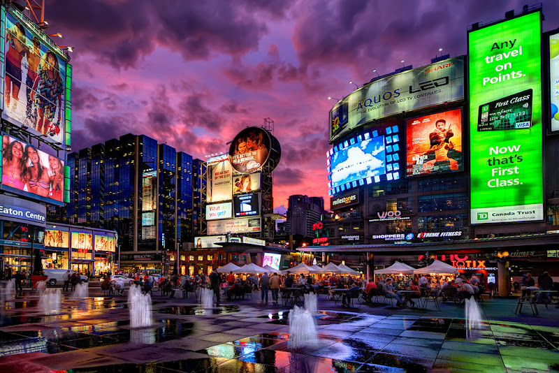 Toronto Yonge-Dundas Square. From Travel Writers' Secrets: Top Toronto Travel Tips