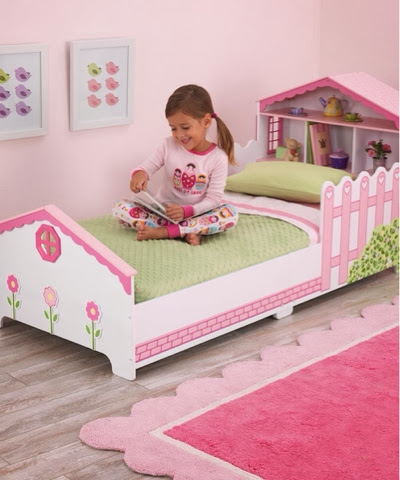 Wooden Dollhouse (Doll House) toddler bed