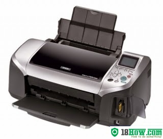 How to reset flashing lights for Epson R300 printer