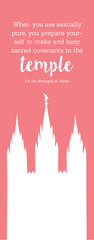 The Law of Chastity and Temple Covenants Bookmark Young Womens Handout