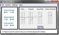 برنامج تغيير الصوت أثناء المكالمات الصوتية والمحادثات على الإنترنت Fake Voice -2