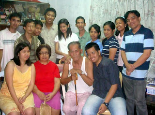 February 28: Feliciano Manio Jr. with Sister, Mother and Father (Fairview, Quezon City)