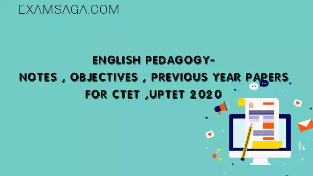 English Pedagogy For CTET 2020