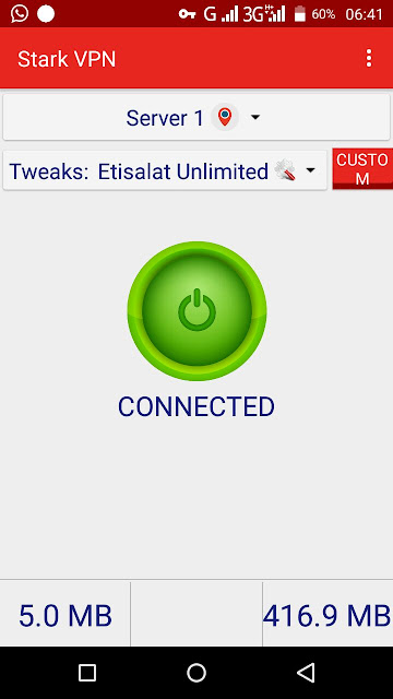 How to use Etisalat 0.0K 2017 unlimited free browsing cheat on StarkVPN
