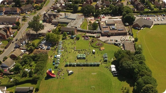 Wistaston Villege Fete 2018 -  publicity photo - aerial photo