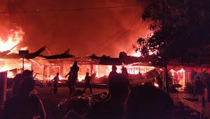 Breaking News: Pasar Tempe Wajo Kebakaran