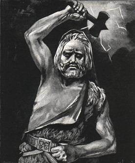 Thor With Mjollnir, Asatru Gods And Heroes