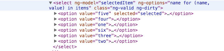 A brief walk-through of the ng-options in AngularJS