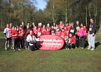 ITS students and instructors raising money for the British Heart Foundation