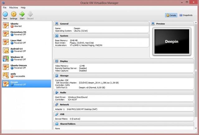 تحميل برنامج VirtualBox 5.0.18 Build 106667 لتشغيل نظامين في وقت واحد