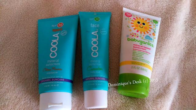 The Coola and Babyganics sunscreen