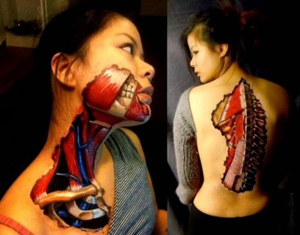 Anatomical Body Art Made With Sharpies amp Latex by Danny Quirk