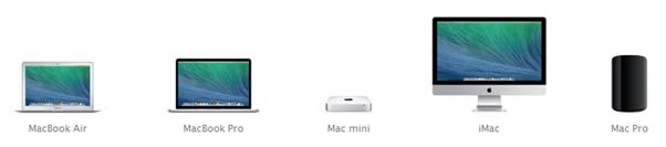 Jajaran produk komputer Mac