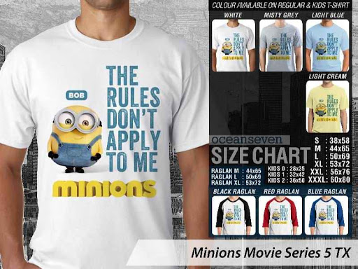 Kaos Kartun Minions Movie Series 5 distro ocean seven