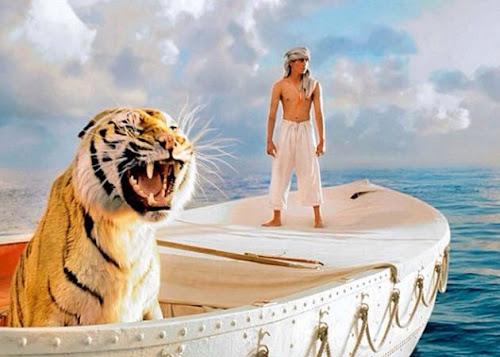 как назывался фильм где мальчик с тигром в лодке