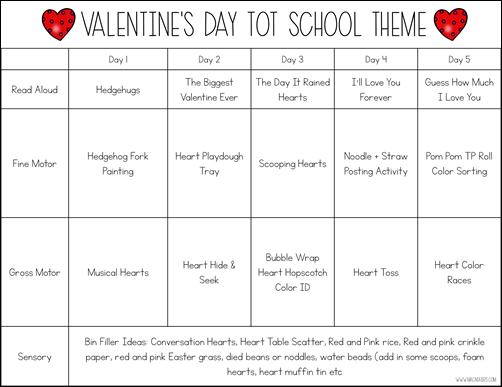Valentine's Day TOt School Theme