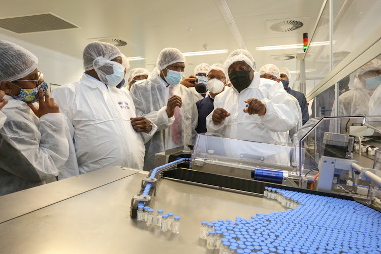 President Cyril Ramaphosa and his deputy David Mabuza this week visited Aspen Pharmacare's Gqeberha factory to check on the progress of the production of the Johnson & Johnson vaccine.