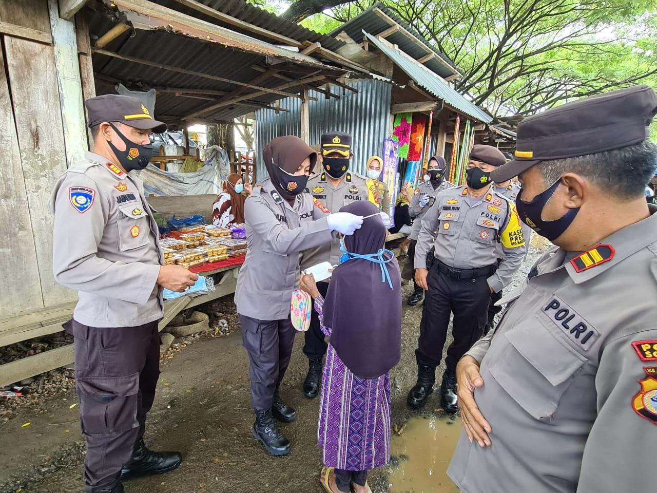 Polres Soppeng Giat KKYD di Pasar Sentral Soppeng