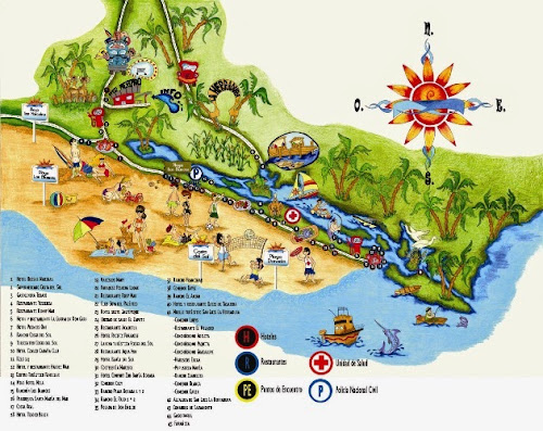 Tourist map of the Costa del Sol