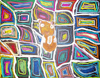Chalk Pastel Cat by Mackenzie