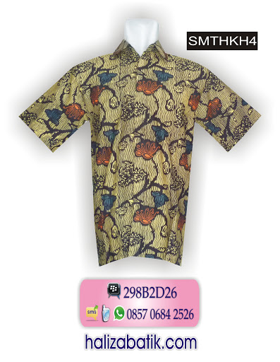 SMTHKH4 Model Baju Batik Pria, Desain Baju Batik Modern, Toko Baju, SMTHKH4