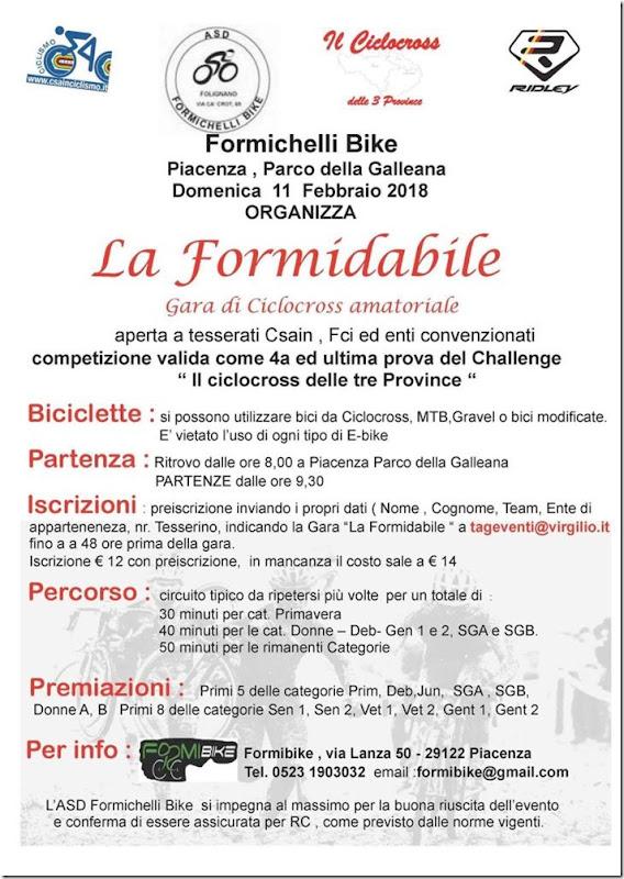 2018-01-11 CSAIN - Cross La Formidabile 4^prova Il Ciclocross delle 3 Province a Parco della Galleana (PC) - Emilia-Romagna