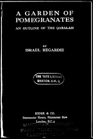 Cover of Israel Regardie's Book A Garden Of Pomegranates