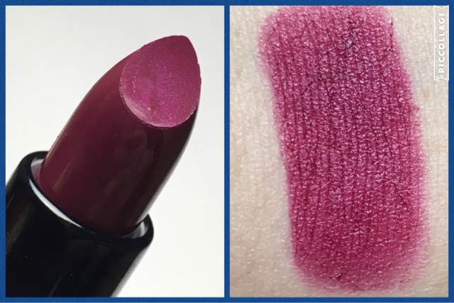 swatch and upclose picture of the live love london lipstick