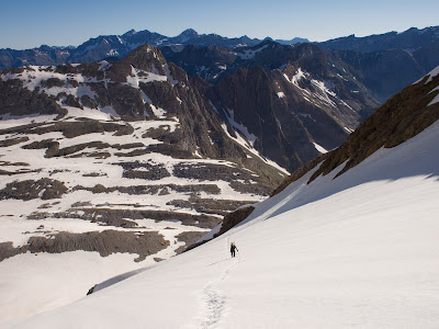Llarg flanqueig per la glacera