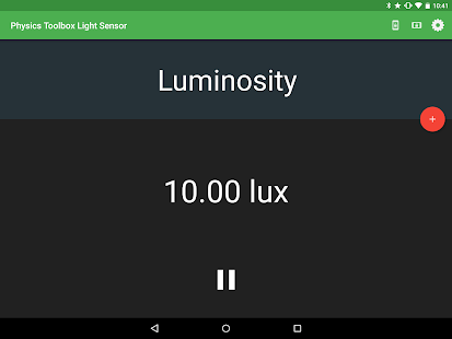 Physics Toolbox Light Sensor- screenshot thumbnail