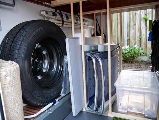Garage Voor Camper : Garage opbergsysteem camperphoto