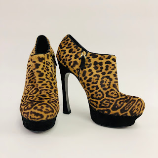 YSL Leopard Ankle Boots