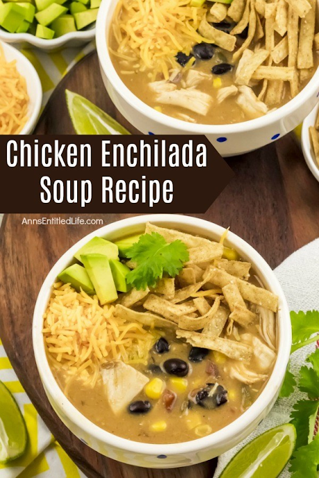 Chicken Enchilada Soup, a co-host pick at Funtastic Friday!